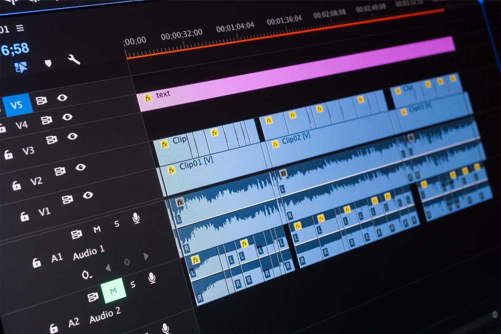 Videobearbeitung bei einem Computer