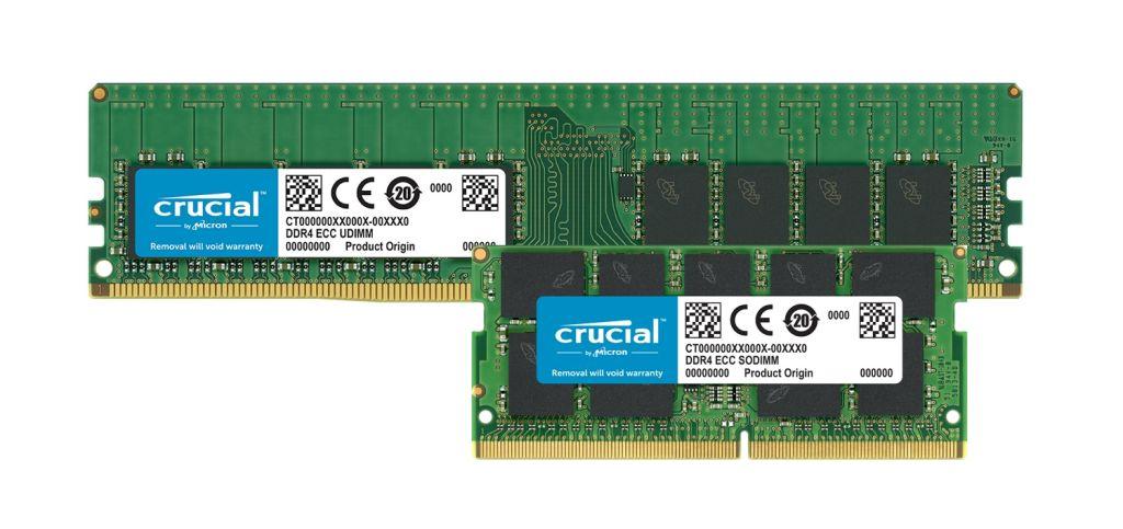 Crucial DDR4 ECC-Speichermodule.