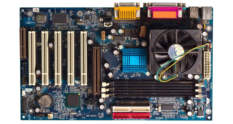 Ein Computer-Motherboard.