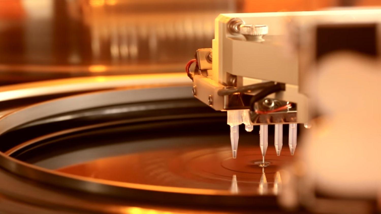Ein Wafer, der dem Fotolithographieverfahren unterzogen wird
