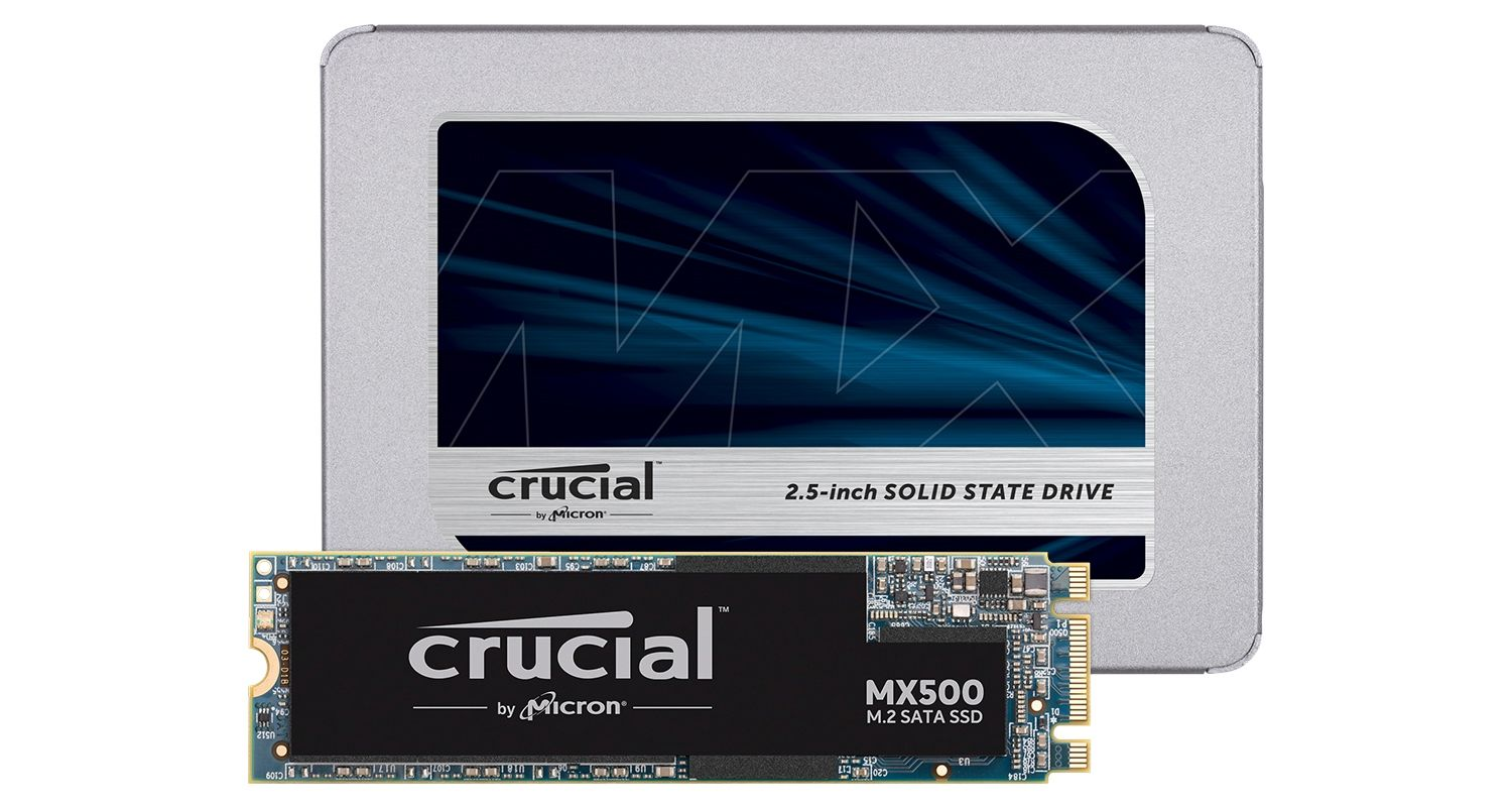 Crucial Solid State Drives.