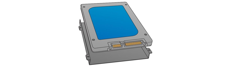 Suchen Sie den Speicherschacht, um die Solid State Drive zu installieren.