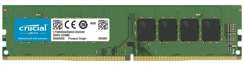 Ein Crucial DDR4 UDIMM RAM-Speichermodul