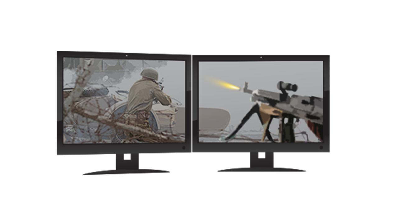 Zwei Gaming-Monitore