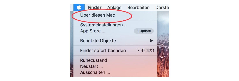 Informationen über einen Mac