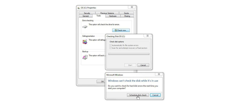 Windows 7 Fenster Datenträger überprüfen