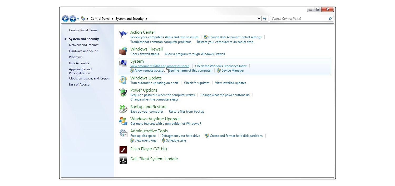 Windows 7 Fenster System und Sicherheit