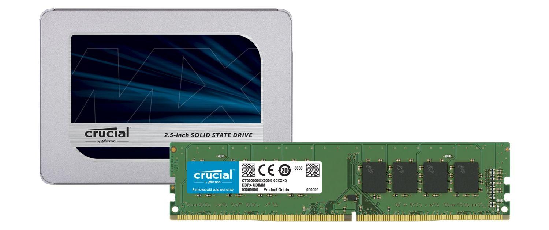 Crucial SSD und RAM-Module