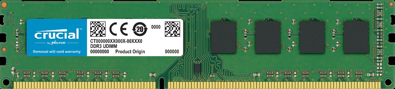 Crucial RAM-Speicher für einen Computer, vor weißem Hintergrund