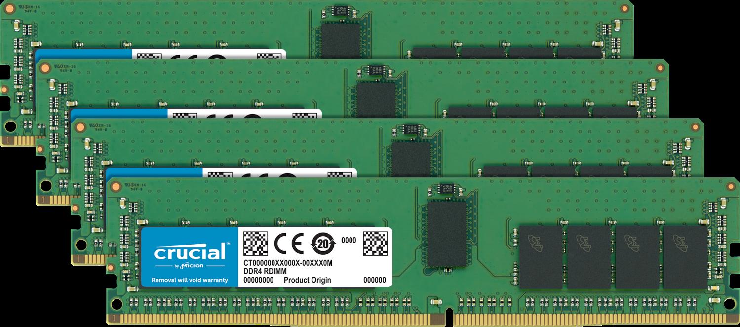 Crucial Arbeitsspeicher (RAM) für einen Computer.